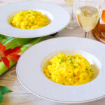 Yellow Beet Risotto with Chives and Crème Fraîche